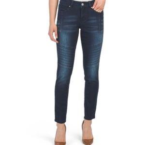 ROYALTY Tummy Control Moto Skinny Jeans